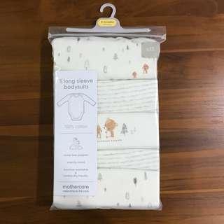 Mothercare 5 Long Sleeve Bodysuits