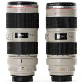Canon 70-200mm F2.8 L IS MKI & MKII untuk di sewa