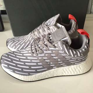 adidas NMD R2  Solid GY/WH UK8 ( NEW )  ORIGINAL