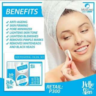 blue rejuvenating facial set