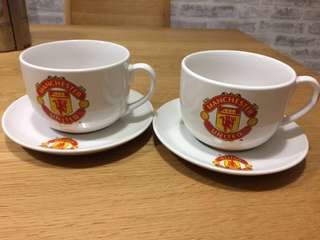 Collectible Manchester United Cups with saucers/ Mugs