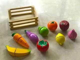 Wooden fruit & vegetable Toys