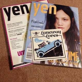 Yen magazine x 2