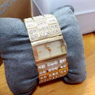 💓 超值 ! 全新 女裝 DKNY Watch 閃石 手鐲 手錶 腕錶 原價$2xxx 志在清屋
