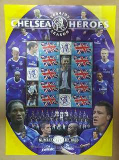 2004/05 FC Chelsea Heroes Limited Edition Stamp Sheets