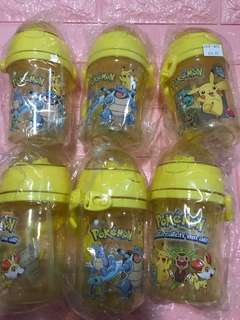 Pokemon's sales!! Straw type 400ml pokemon bottles brand new