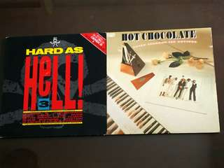 HARD AS HELL ● HOT CHOCOLATE . modef 3 / going through through motions ( buy 1 get 1 free )  vinyl record