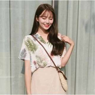 [PO] Korean Tropical Oversized Hawaiian Shirt
