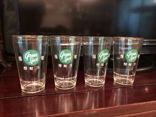 Vintage Green Spot glasses