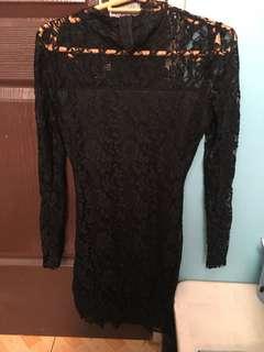 Daring Black Formal Dress