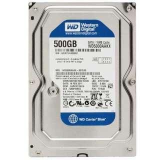 500 GB sata disk for desktop : 25 piece avail