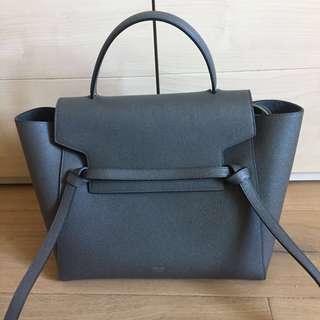 Celine Mini Belt Bag In grained calfskin - Grey