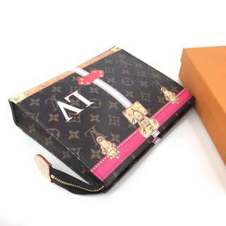 Lv clutch leather