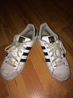Adidas Superstars (Cheap because need cleaning!) #10andunder