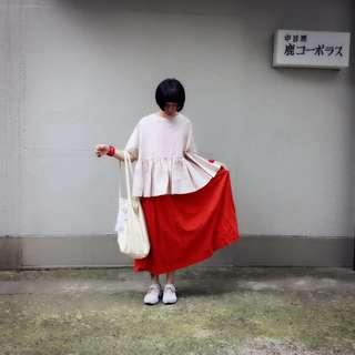 日本京都東京連線超美和風花子澄紅棉質背心長洋裝澎澎裙eureka eureka eureka 找到了服飾工作室