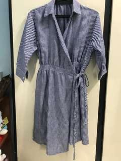 🚚 條紋襯衫洋裝