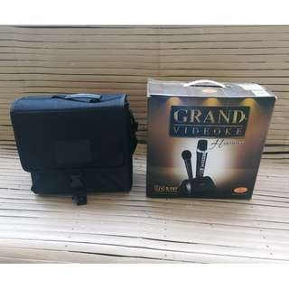 Grand videoke complete with box and accessories