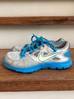 Nike Blue and Silver Trainings Shoes