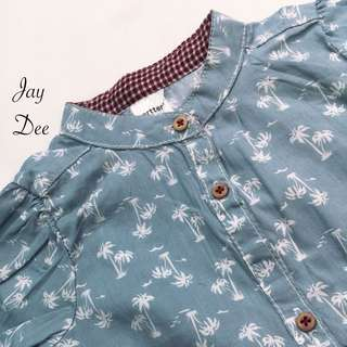 Baby Cotton Blouse (Dusty Blue)