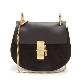 Chloe Drew smell leather and suede cross-body bag