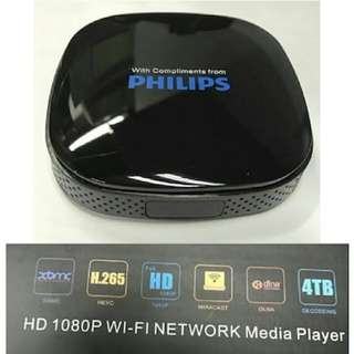 Philips 1080P wifi network media player