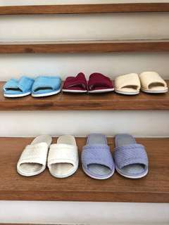 Coloured Soft House Slippers
