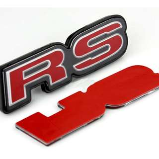RS Car Emblem Metal Auto Rear Decal Tailgate Badge RED For Honda Cars