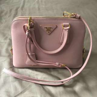 Prada Promenade Saffiano Light Pink Small Bag