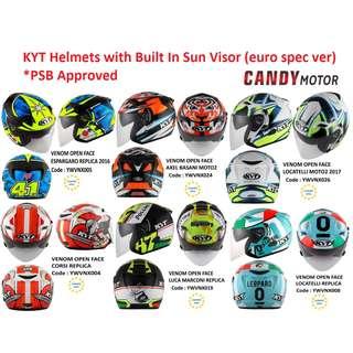 KYT Helmets / euro spec / PSB Approved