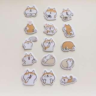 Shiba Scrapbook Stickers