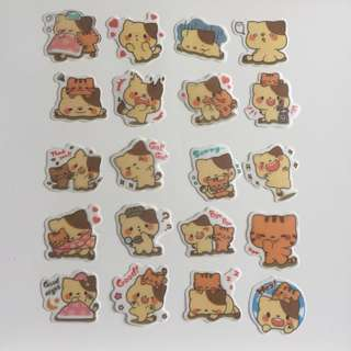 Yellow Cat Stickers