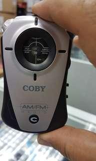 COBY AM/ FM POCKET RADIO
