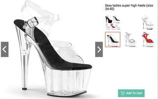 Sexy Ladies Super High Heels Pole Dancing Shoes