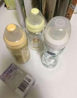 Chicco寬口奶瓶小獅王PPSU和玻璃寬口奶瓶