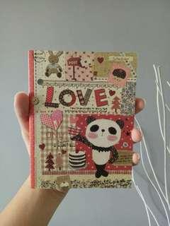 Artbox panda schedule book organizer (no dates)