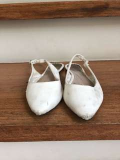 Topshop Worn-Out White Sandals