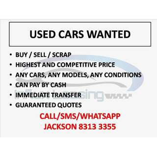 Used cars wanted!
