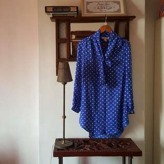 Forever 21 Vintage Polka Dot Shirt Dress