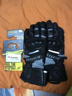 Klim full leather riding gloves in XL
