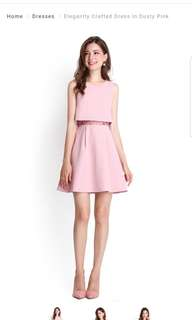 Lilypirates Elegantly Crafted Dress In Dusty Pink