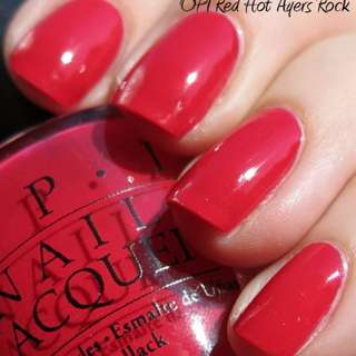 OPI – A47 RED HOT AYERS ROCK 🌟 Brand New 🌟 Full Size Bottle 🌟 Clearing Stock!