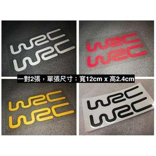 🚚 2入 WRC 拉力賽 門把貼 車貼 貼紙 汽車 機車 電動車 反光貼 防水耐熱 套貼 警示裝飾貼 品牌裝飾