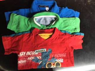 Preloved polo shirt and shirts