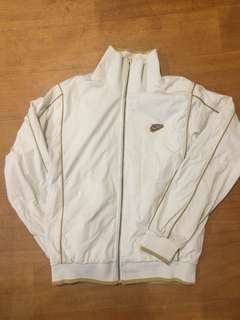 Retro Nike white and gold jacket