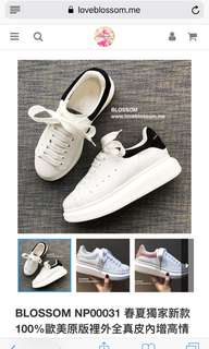 🚚 春夏獨家新款 100%歐美原版裡外全真皮內增高情侶休閒鞋