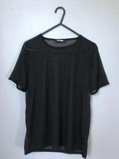 Mesh black top