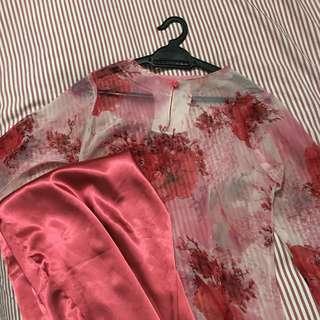 Baju Kurung Red Pink