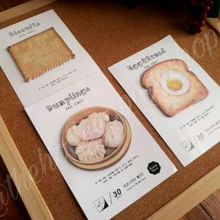 Food series Sticky Notes (3 for 130)