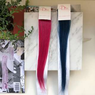 2x 100% Human Hair Extension Clip Ons