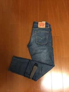 (Size 32/34) Levi's 511 修身赤耳牛仔褲